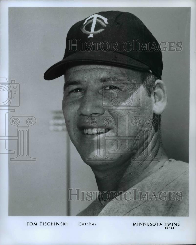 Press Photo Tom Tischinski, Catcher, Minnesota Twins - orc10763 - Historic Images