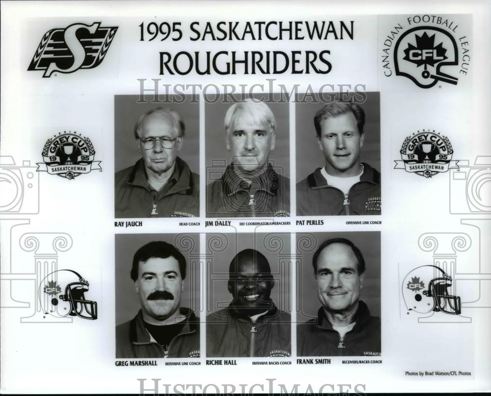 1995 Press Photo 1995 Saskatchewan Rough Riders Canadian Football League - Historic Images