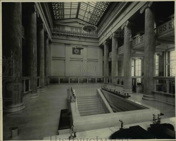 1922 Press Photo Interior of First National Bank - orb01934 - Historic Images