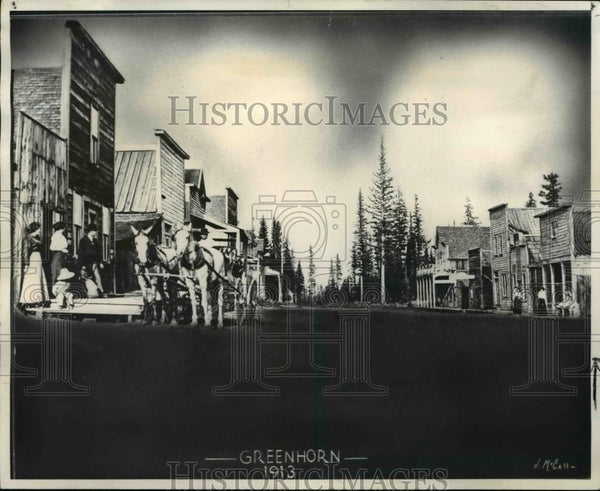 1913 Press Photo Before 1913 fire Gresham was thriving commercial center. - Historic Images