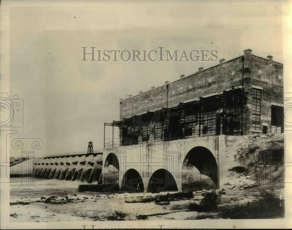 1934 Press Photo Power Plant on the Banks of the Flint River in Georgia. - Historic Images