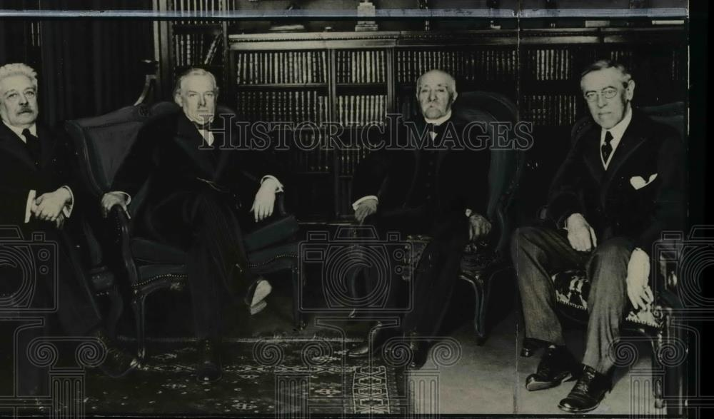 1943 Press Photo The Big Four of peace conferences following World War I. - Historic Images
