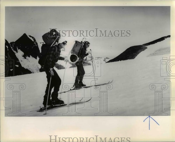 1978 Press Photo Dr. Jurgen Meyer Arendt Glacier Study - orb21277 - Historic Images