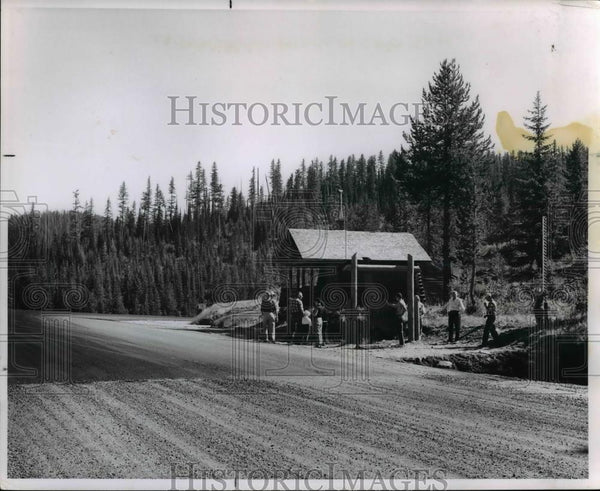 1963 Press Photo Idaho welcome sign from motorists approaching Lolo Pass - Historic Images