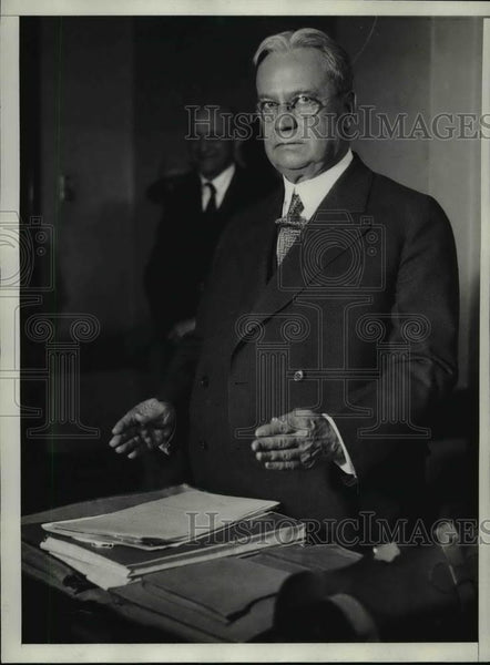 1930 Press Photo Senator Hiram Johnson of California - spa13801 - Historic Images