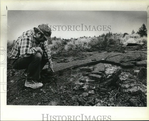 1979 Press Photo Chad Bacon, the Bureau of Land Management district manager - Historic Images