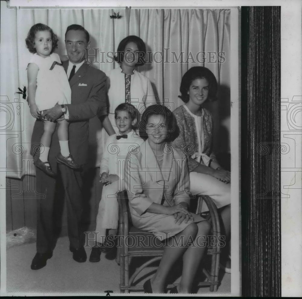 William E Miller Poses With His Family For A Photograph