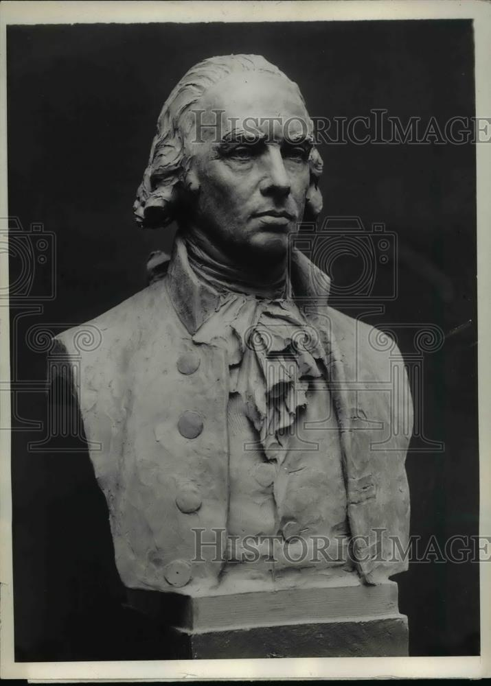 1929 Press Photo The bust of James Madison, 4th president of the United States - Historic Images