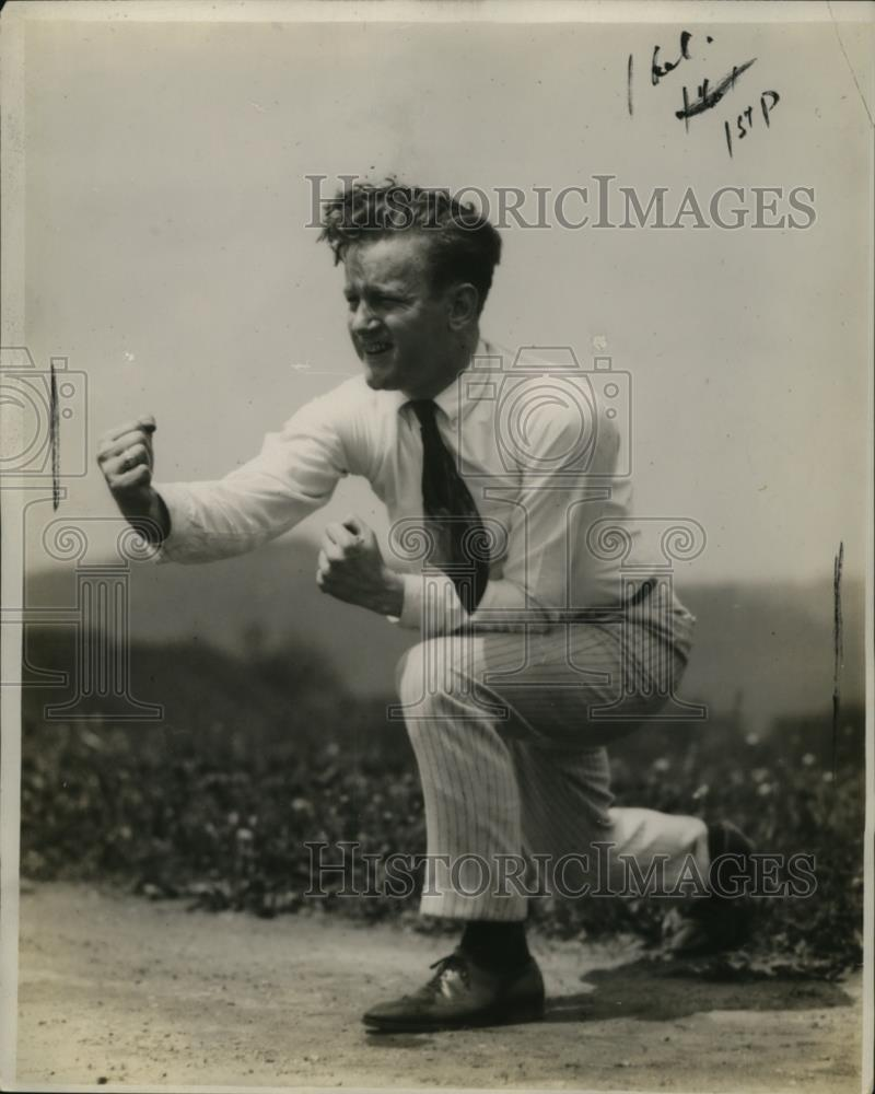 1921 Press Photo Jim Scott, Male Cheerleader for University of Pittsburgh - Historic Images