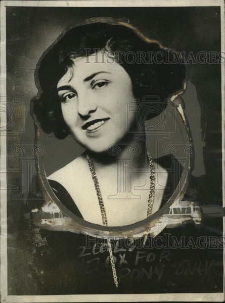 1925 Press Photo Senorita Manuelle de Ubarry from Spain  - neo06292 - Historic Images