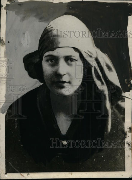 1925 Press Photo Priscilla Amidon, Committed Suicide in Pact with Sterling Mills - Historic Images