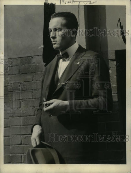 1922 Press Photo Alec E. Robertson, John F. Ellis Kidnapping Victim, New Jersey - Historic Images