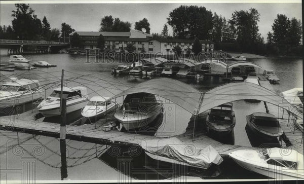1987 Press Photo Lakeside Motel, Sandpoint Idaho newly renovated - spa52445 - Historic Images