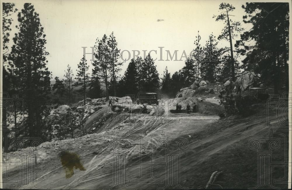1930 Press Photo Spokane Highway Construction - spa55148 - Historic Images