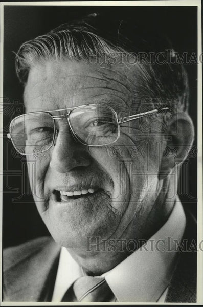 1986 Press Photo Robert Leonard, School Superintendent- Sandpoint, Idaho - Historic Images