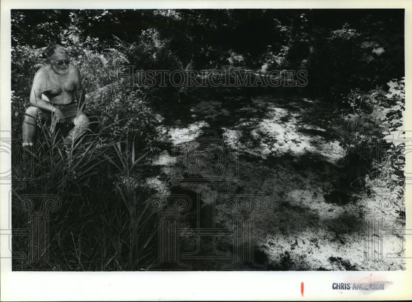 1992 Press Photo Logging & drought turned mountain spring to algae-filled pond - Historic Images