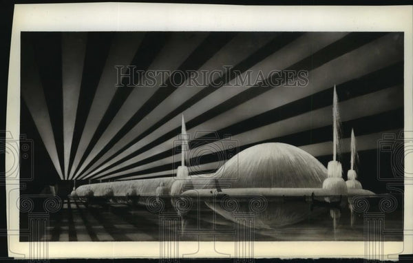 1934 Press Photo World's largest fountain featured in New World's Fair - Historic Images