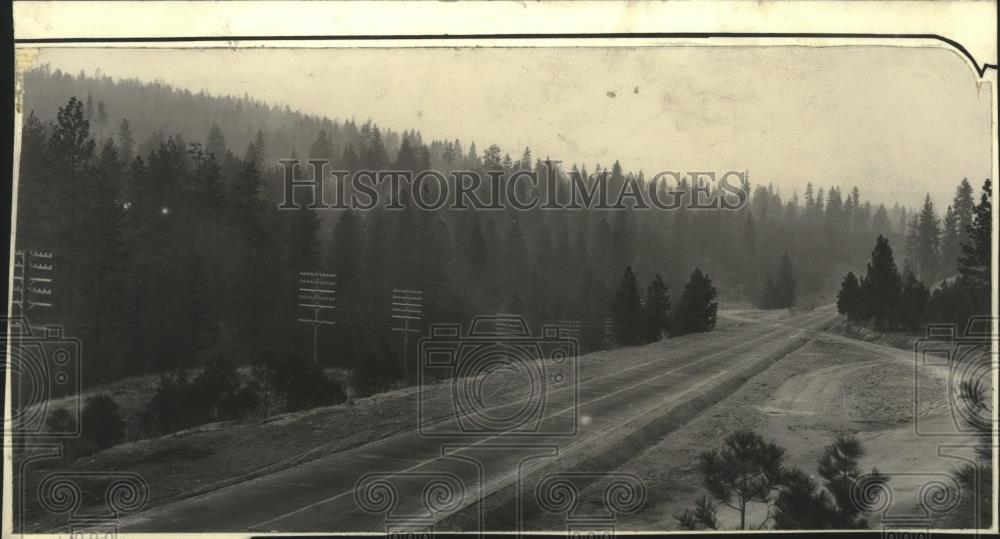 1929 Press Photo Inland Empire Highway near Hangman Creek Valley - spa48343 - Historic Images