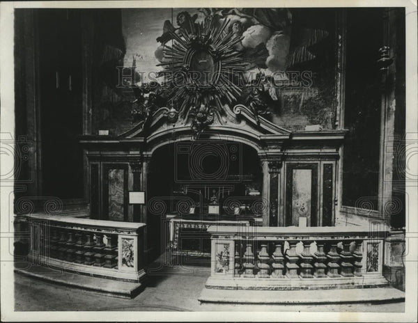 1929 Press Photo Altar at Church of San Carlo, Rome - spa55935 - Historic Images