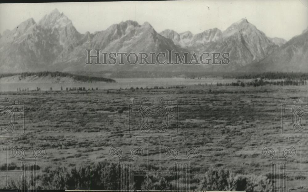 1929 Press Photo Jackson Hole Country in Wyoming to become a national park - Historic Images