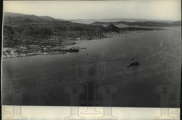 1928 Press Photo Indian Harbor, Labrador site of the Bremen Flight Landing - Historic Images