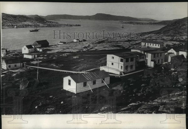 1928 Press Photo The settlement at Indian Harbor, Labrador site Bremen Landing - Historic Images
