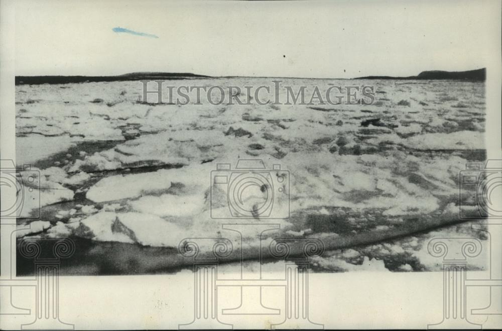 1928 Press Photo Ice encountered at Labrador Coast- Bremen Transatlantic Flight - Historic Images