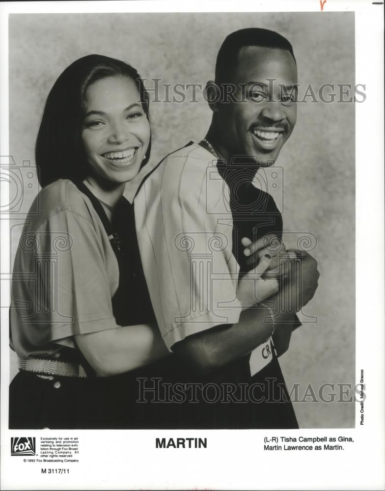 1992 Press Photo Tisha Campbell And Martin Lawrence Star