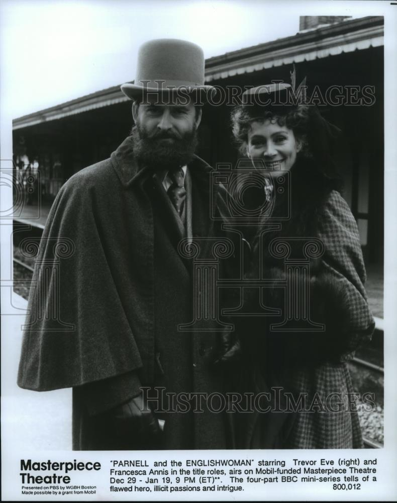1991 Press Photo Trevor Eve & Francesca Annis in Parnell and the  Englishwoman