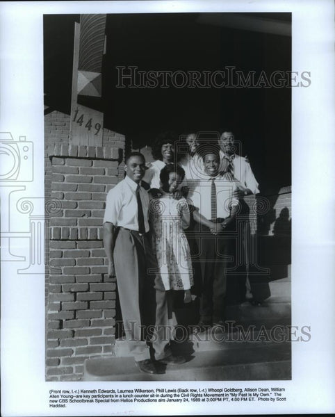 1989 Press Photo Kenneth Edwards and Whoopi Goldberg in My Past is My Own. - Historic Images