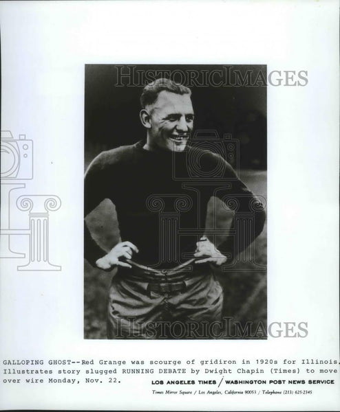 "1920 Press Photo 1920s football star, Harold ""Red"" Grange - sps05669 - Historic Images"