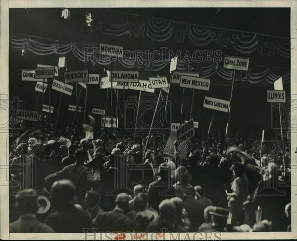 1924 Press Photo Scene at Democratic National Convention, Madison Square Garden - Historic Images