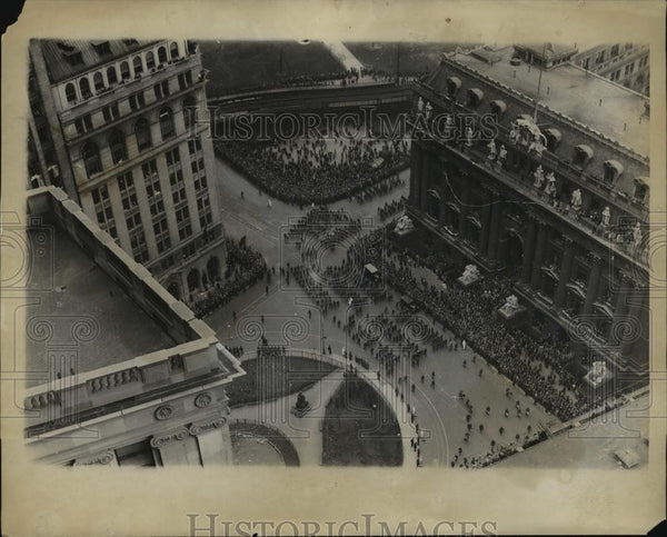 1928 Press Photo Bremen flyers parade at Broadway in NYC - neny20464 - Historic Images