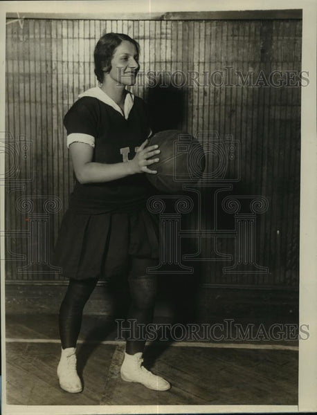 1927 Press Photo New York Rose Koenig of Hunter College Basketball Team NYC - Historic Images