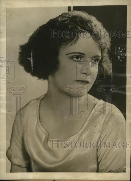 1923 Press Photo New York Vaudeville Actress Zoe Garland Found Unconscious NYC - Historic Images