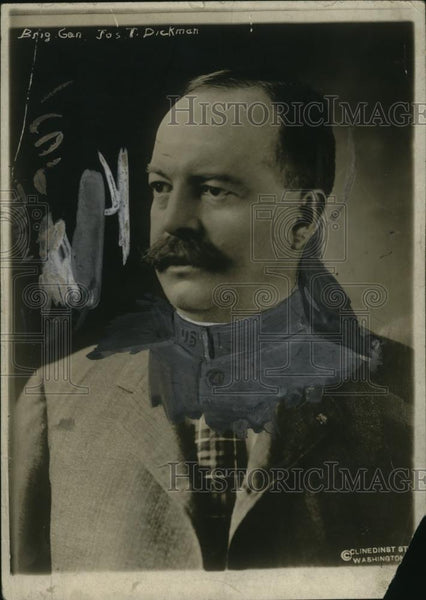 1918 Press Photo Brig. Gen. Joseph Bickman, Fort Ethan Allen - neo10175 - Historic Images