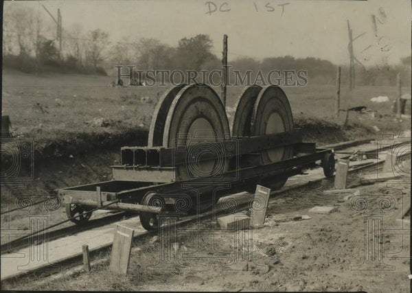 1920 Press Photo Machine Tests Paving Roads - neo13487 - Historic Images