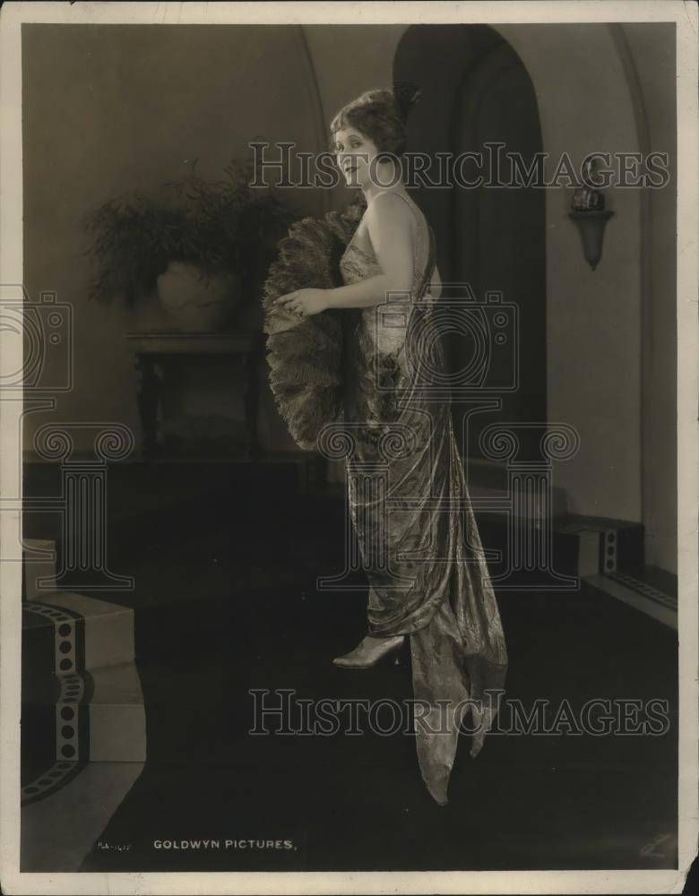 1921 Press Photo Imported Brocado Women's Outfit by Goldwyn Modiste - neo14104 - Historic Images