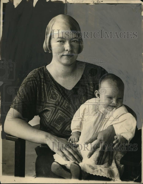 1925 Press Photo Mrs. Theodore Haimson and Son - neo15901 - Historic Images