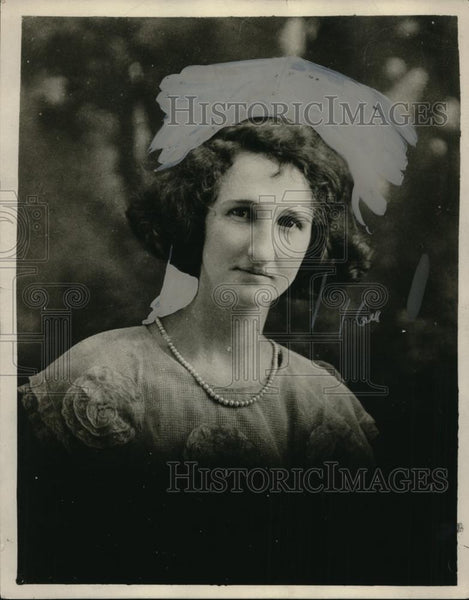 1924 Press Photo Mrs. Florence Cory Hill, Fire Victim, School Teacher - Historic Images