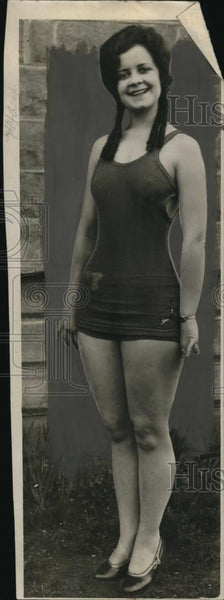 1929 Press Photo Jerry Chenoweth, Candidate for Queen of Portland Rose Festival - Historic Images