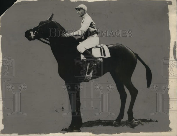 1928 Press Photo Jockey J Maiben Riding W.J. Salmon - neo16771 - Historic Images