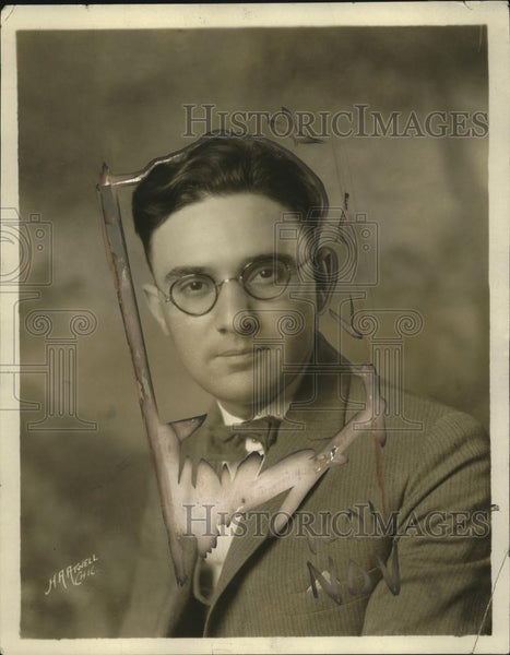 1924 Press Photo Harry Miller  chief of On the Book Trail of WRS radio - Historic Images