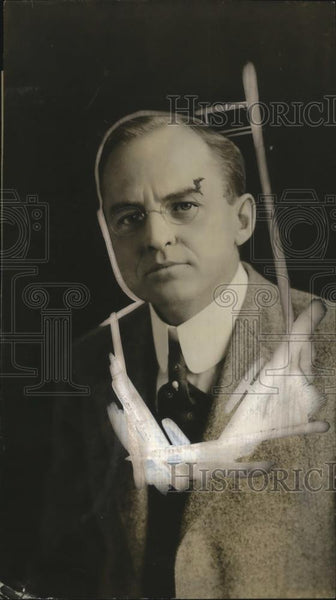 1923 Press Photo Dr. Willis Whitney, Winner Perkins Medal for Submarine Detector - Historic Images
