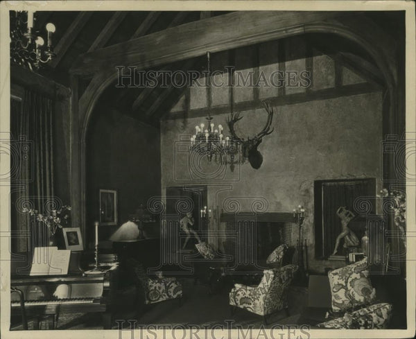 1925 Press Photo Interior of Galli-Cureis Home - neo18239 - Historic Images