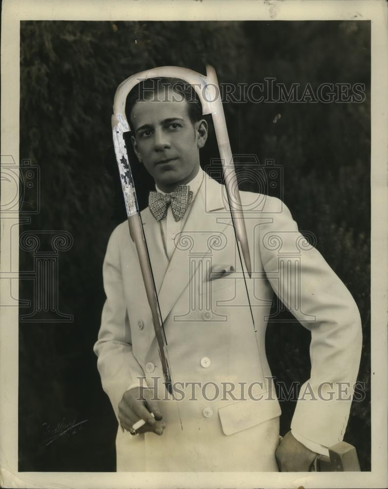 1927 Press Photo Alberto Valentino Remodeled/Higlighted Nose - neo25598 - Historic Images