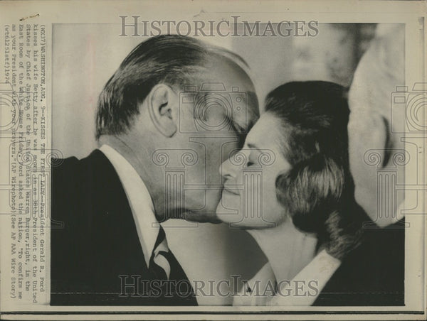 1974 Press Photo Gerald Ford President United States - Historic Images