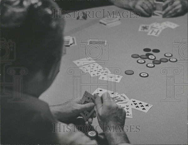 1940 Press Photo Poker Card Game - Historic Images