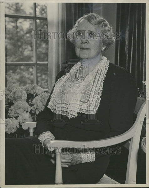 1937 Press Photo John S. Newberry Mrs. - Historic Images