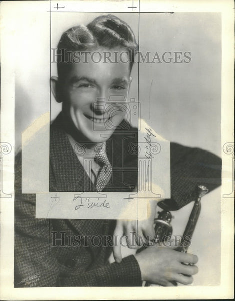 1936 Press Photo Ernest Red Nichols Jazz Composer - Historic Images